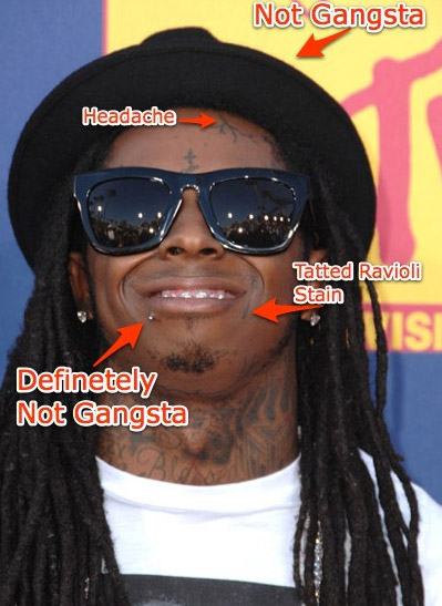 PIC OF THE DAY!!!:Lil Wayne Rocks A Lip Ring